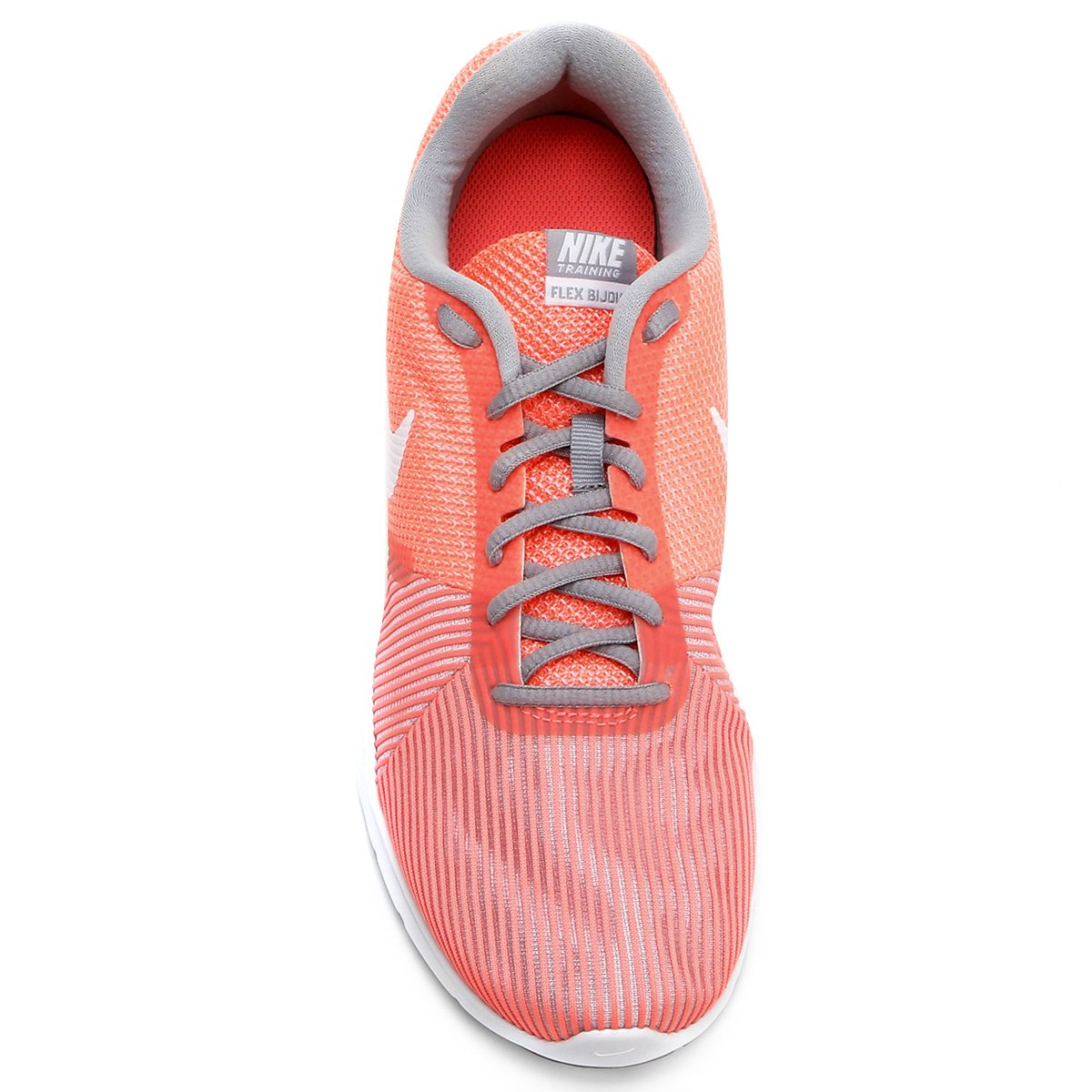 Tênis Nike Flex Bijoux Feminino - Salmão e Prata - Compre Agora ... ba21ec4688f17