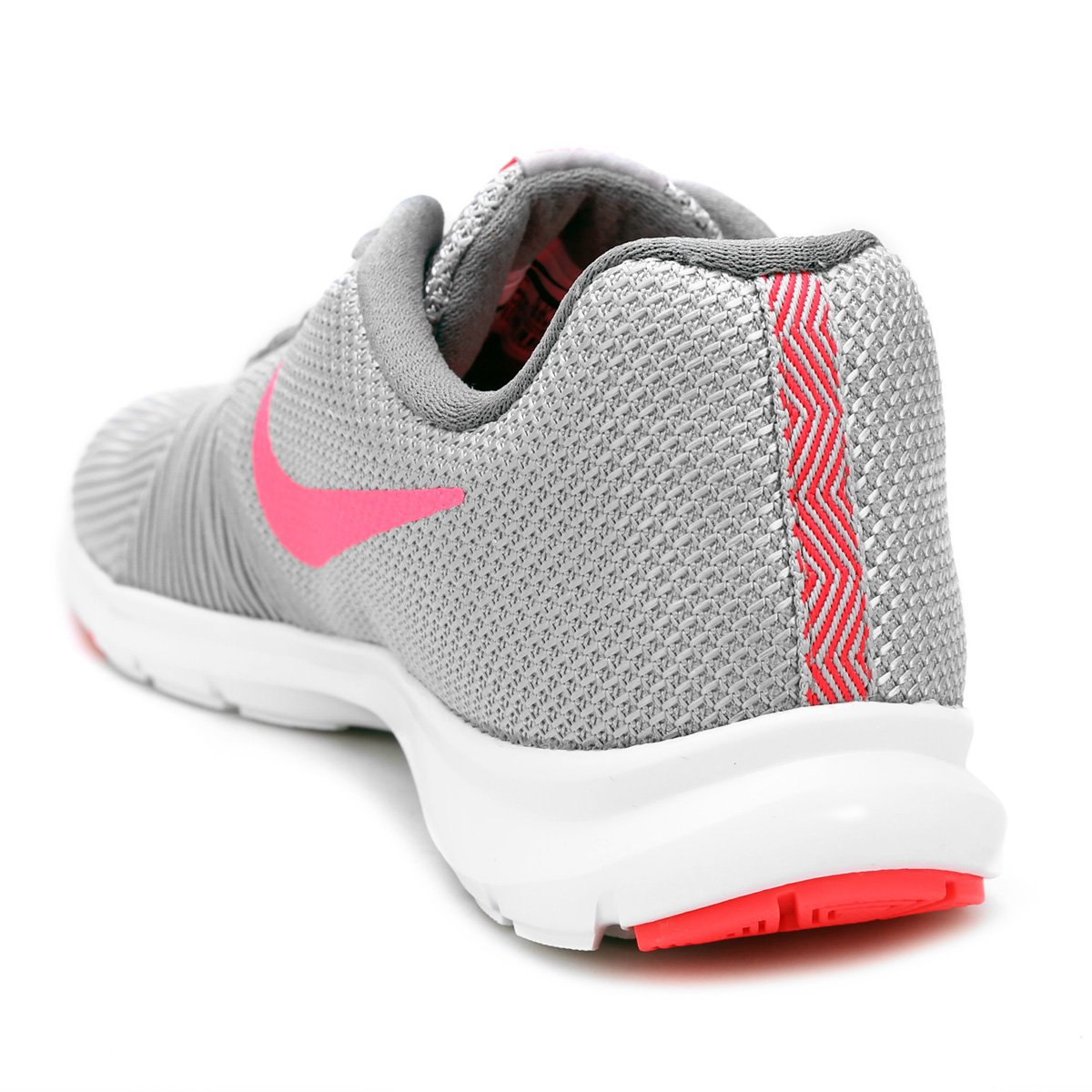 Tênis Nike Flex Bijoux Feminino - Prata e Rosa - Compre Agora  c19f8ff8c5263