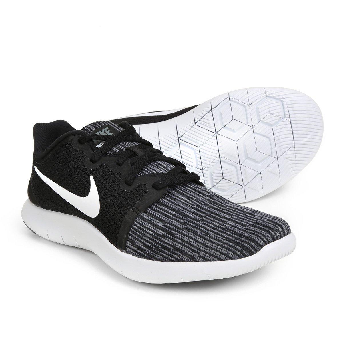 Tênis Nike Flex Contact 2 Feminino - Branco e Preto - Compre Agora ... 832d8a2a2ed00