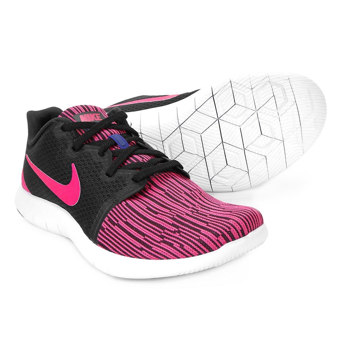 dace9a07ed3 Tênis Nike Flex Contact 2 Feminino - Preto e Rosa - Compre Agora ...