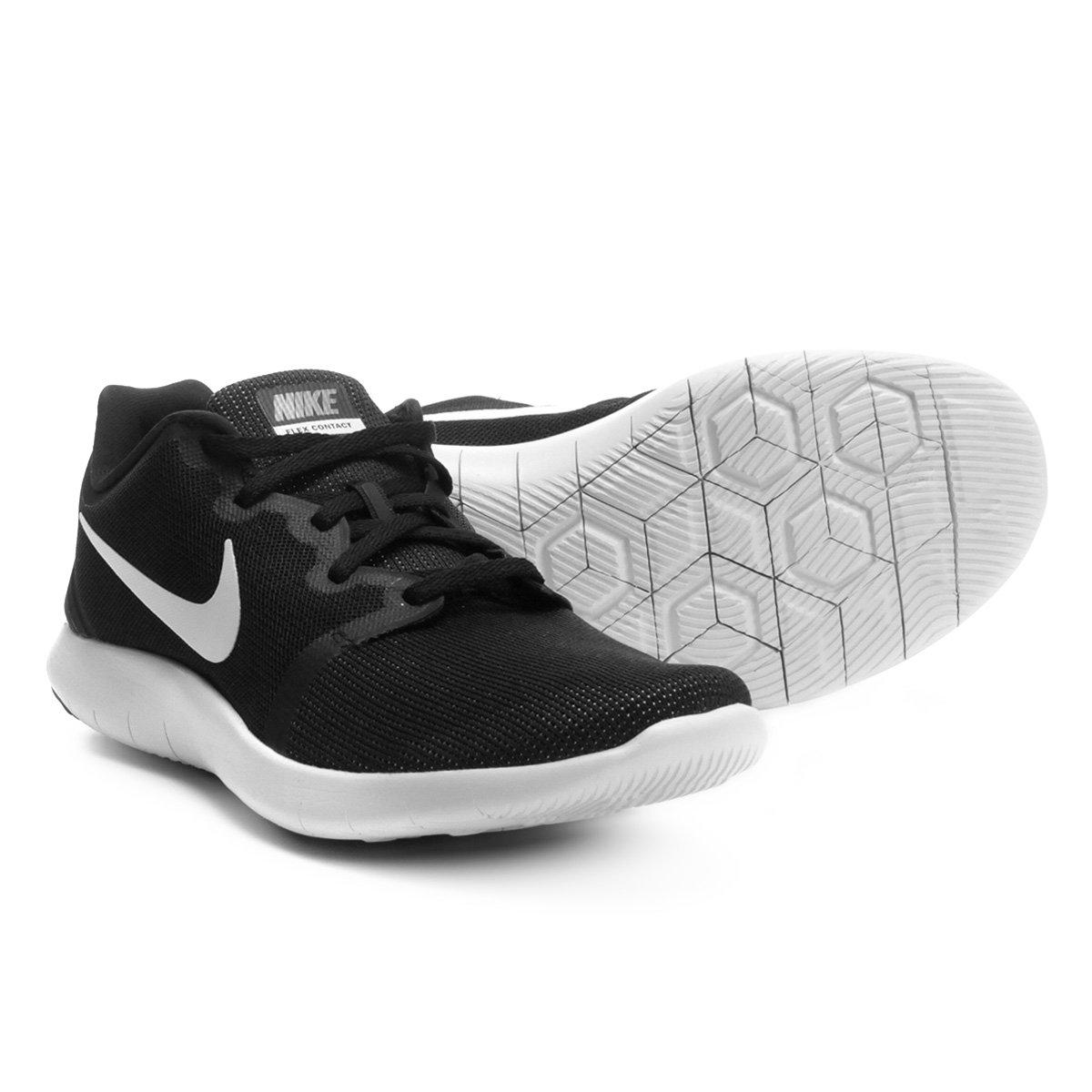 607e5417744 Tênis Nike Flex Contact 2 Masculino - Preto e Branco - Compre Agora ...