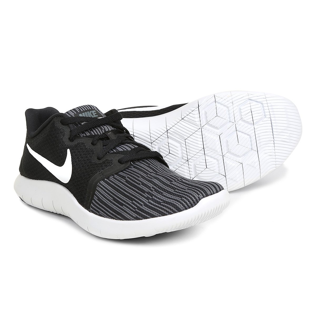 6e2a594bd Tênis Nike Flex Contact 2 Masculino - Branco e Preto | Shop Timão