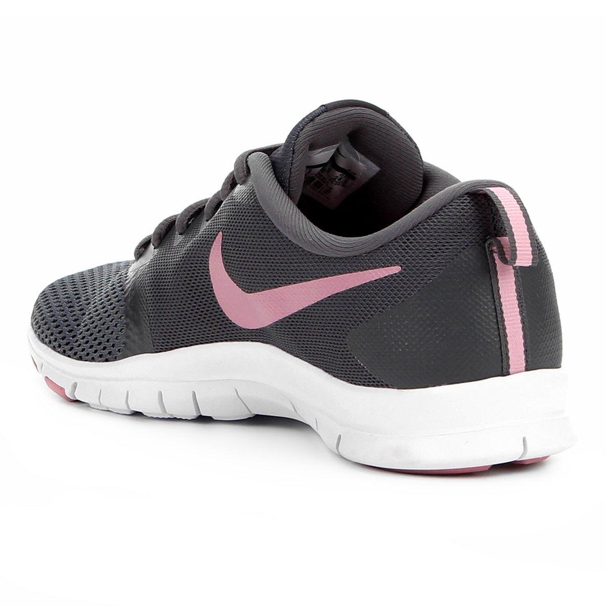 Tênis Nike Flex Essential TR Feminino - Cinza e Rosa - Compre Agora ... c03671855948b