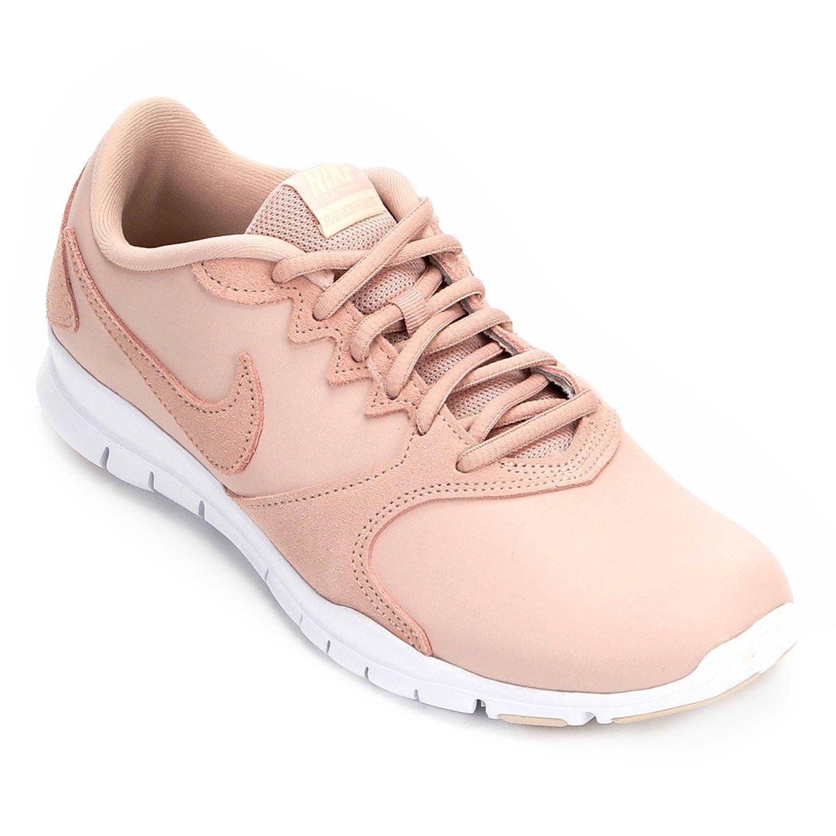 6dd37ae5c7bb7 Tênis Nike Flex Essential Tr Lt Feminino - Bege - Compre Agora ...
