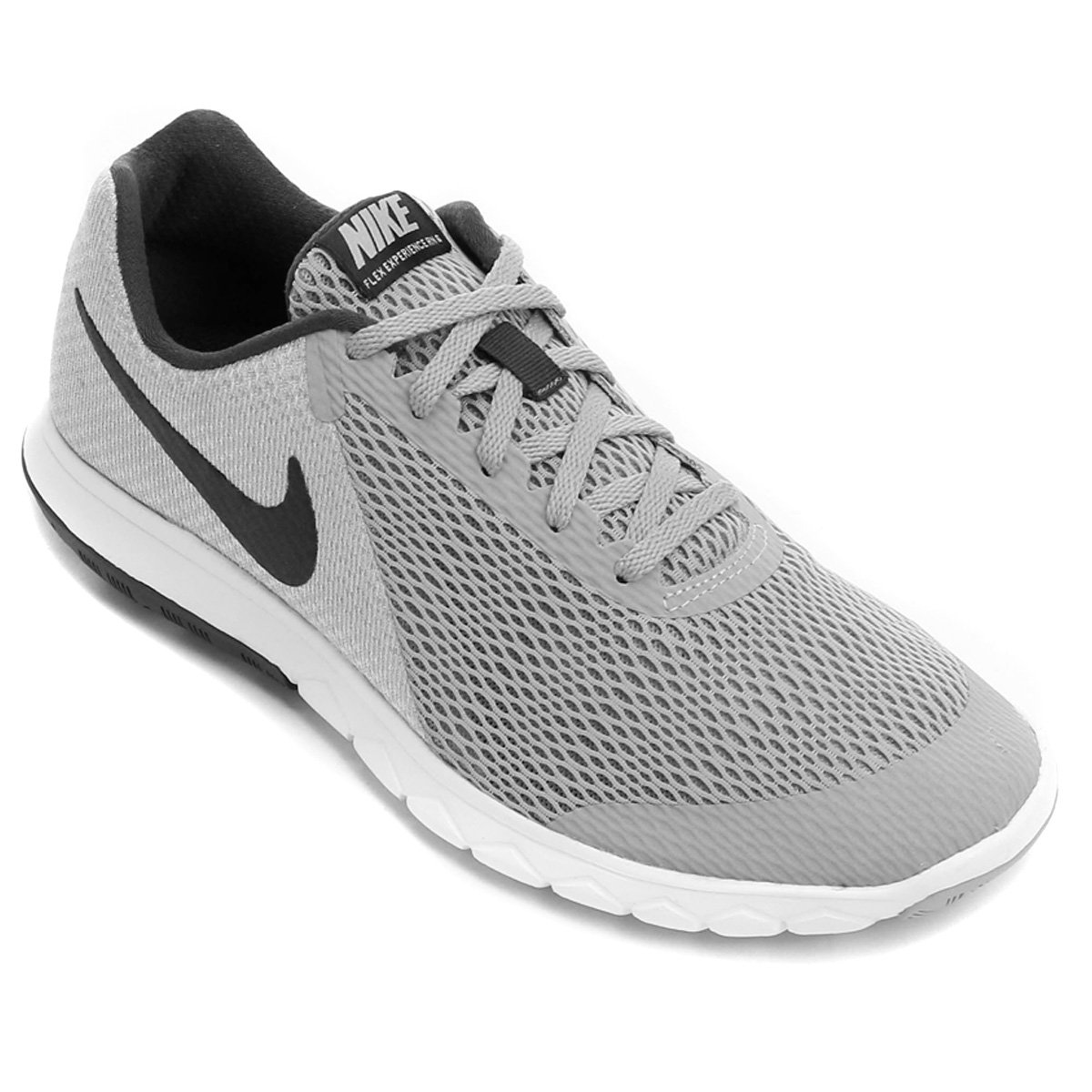 9bbfbe116f3 Tênis Nike Flex Experience Rn 6 Masculino - Cinza e Preto - Compre Agora