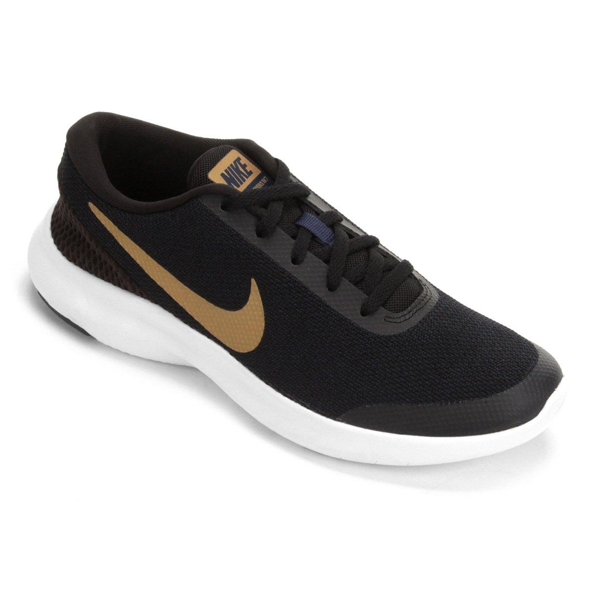 b194fb5bc0f Tênis Nike Flex Experience RN 7 Feminino - Preto e Dourado - Compre Agora