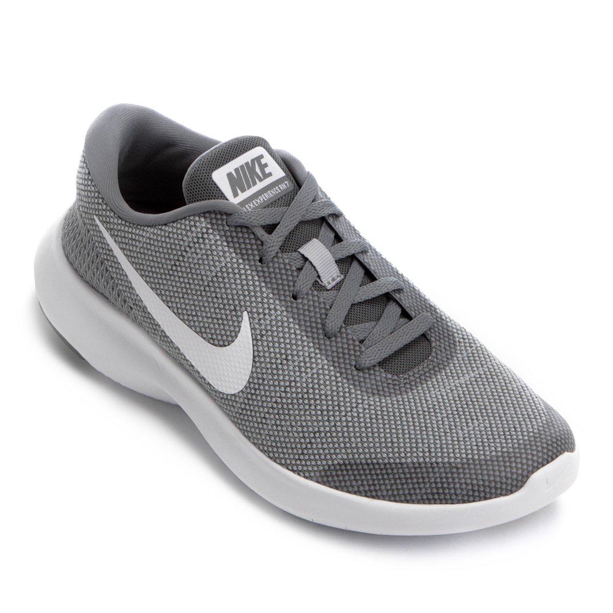Tênis Nike Flex Experience Rn 7 Feminino Cinza E Branco
