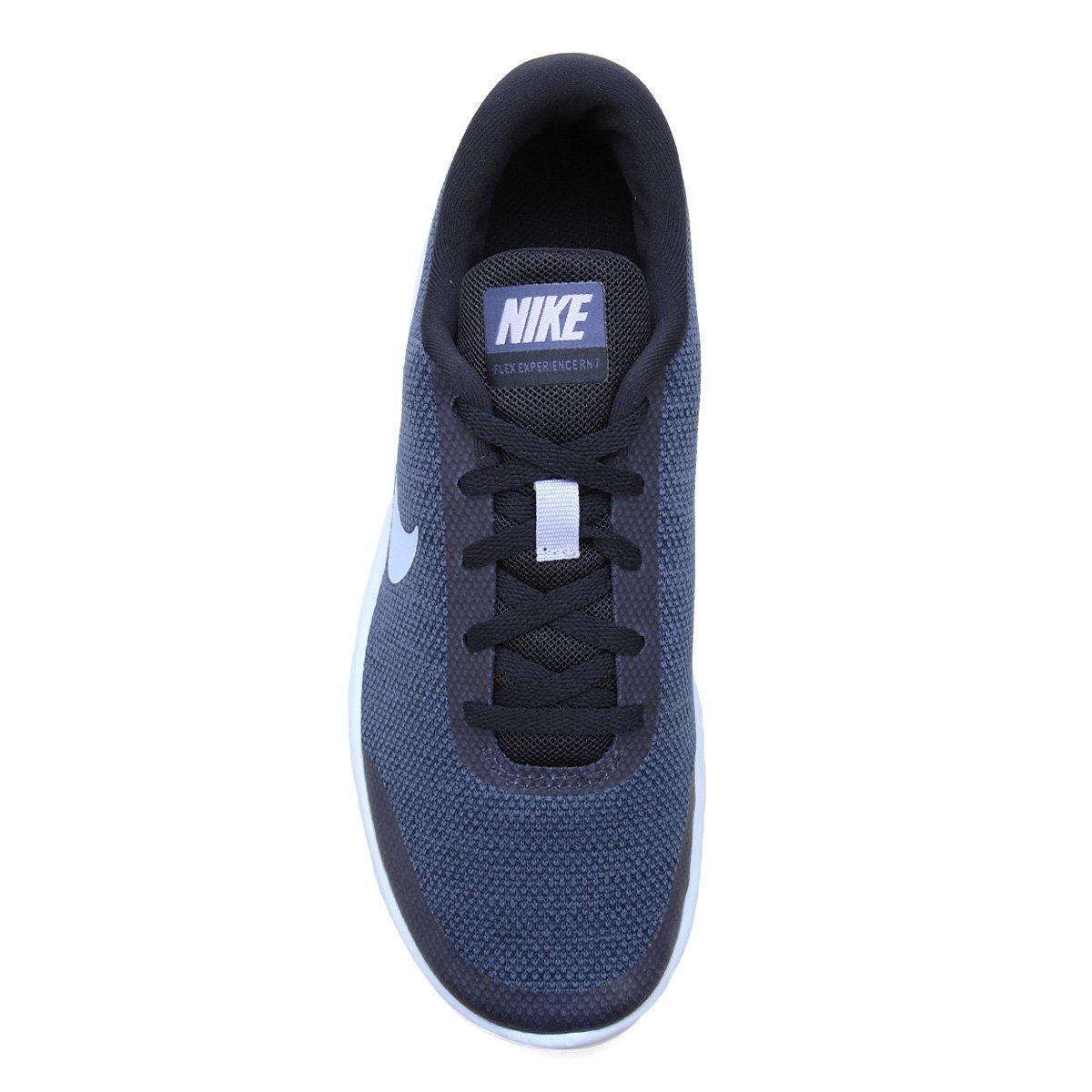 5f79e3422f Tênis Nike Flex Experience RN 7 Feminino - Azul e Cinza - Compre ...