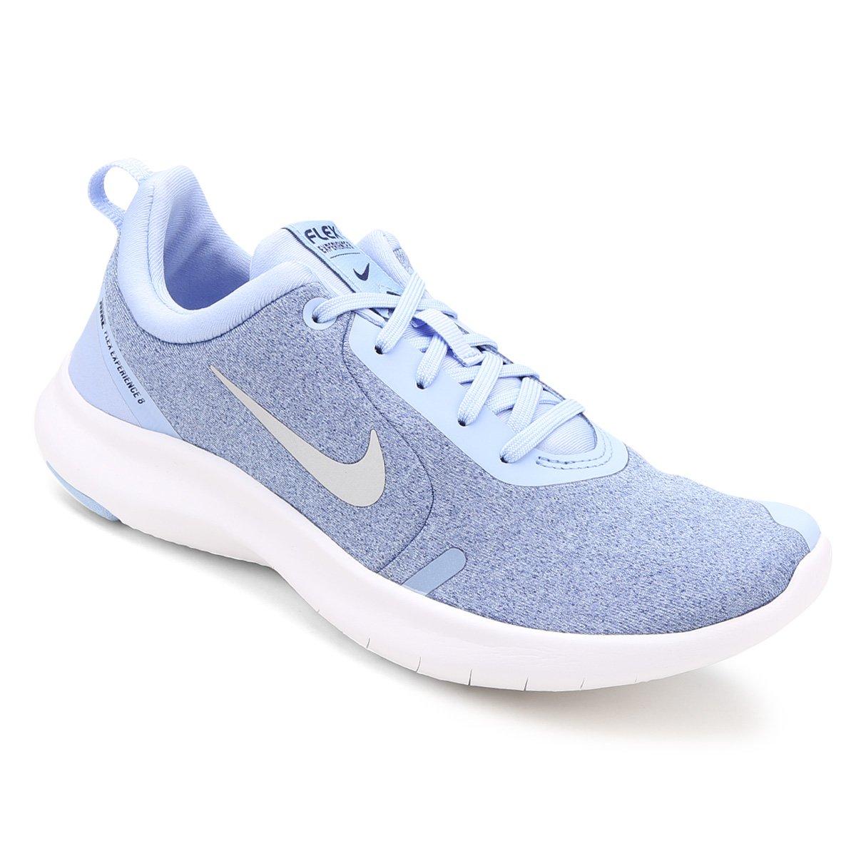 Tênis Nike Flex Experience Rn 8 Feminino Azul E Prata