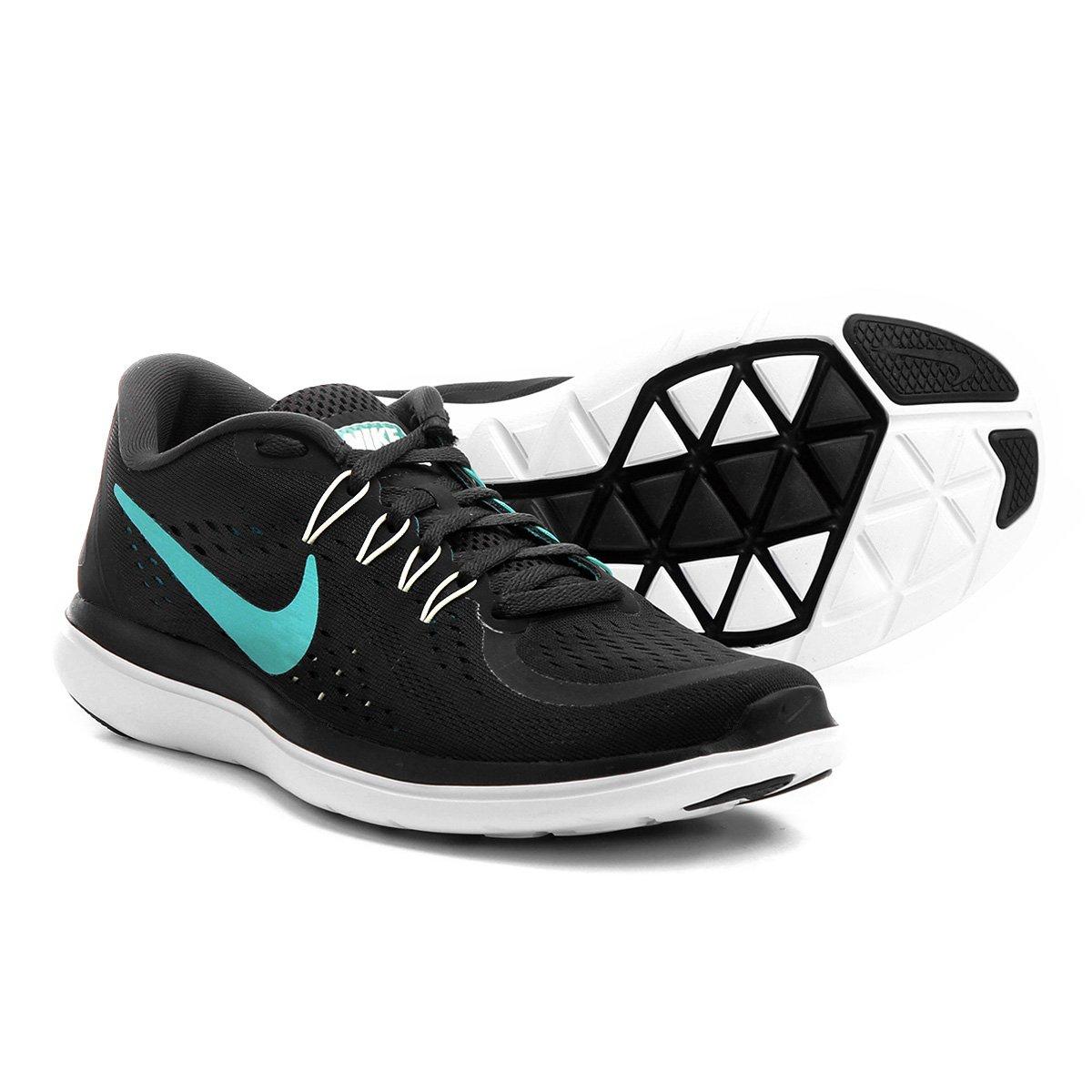 df3ba6d11 Tênis Nike Flex Run Masculino - Preto e Verde Água - Compre Agora ...