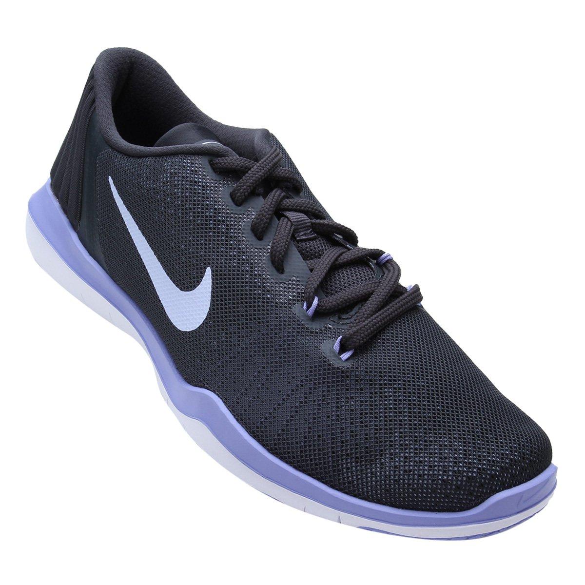 05a897fd7edac Tênis Nike Flex Supreme TR 5 Feminino - Cinza e Roxo - Compre Agora ...