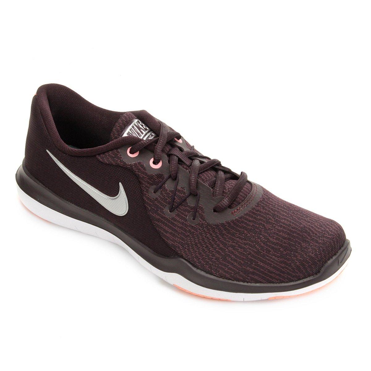 2e063a436 Tênis Nike Flex Supreme TR 6 Feminino - Vinho e Prata   Shop Timão