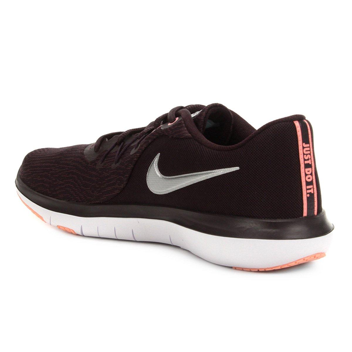 Tênis Nike Flex Supreme TR 6 Feminino - Vinho e Prata - Compre Agora ... de4aa4d20a0f0