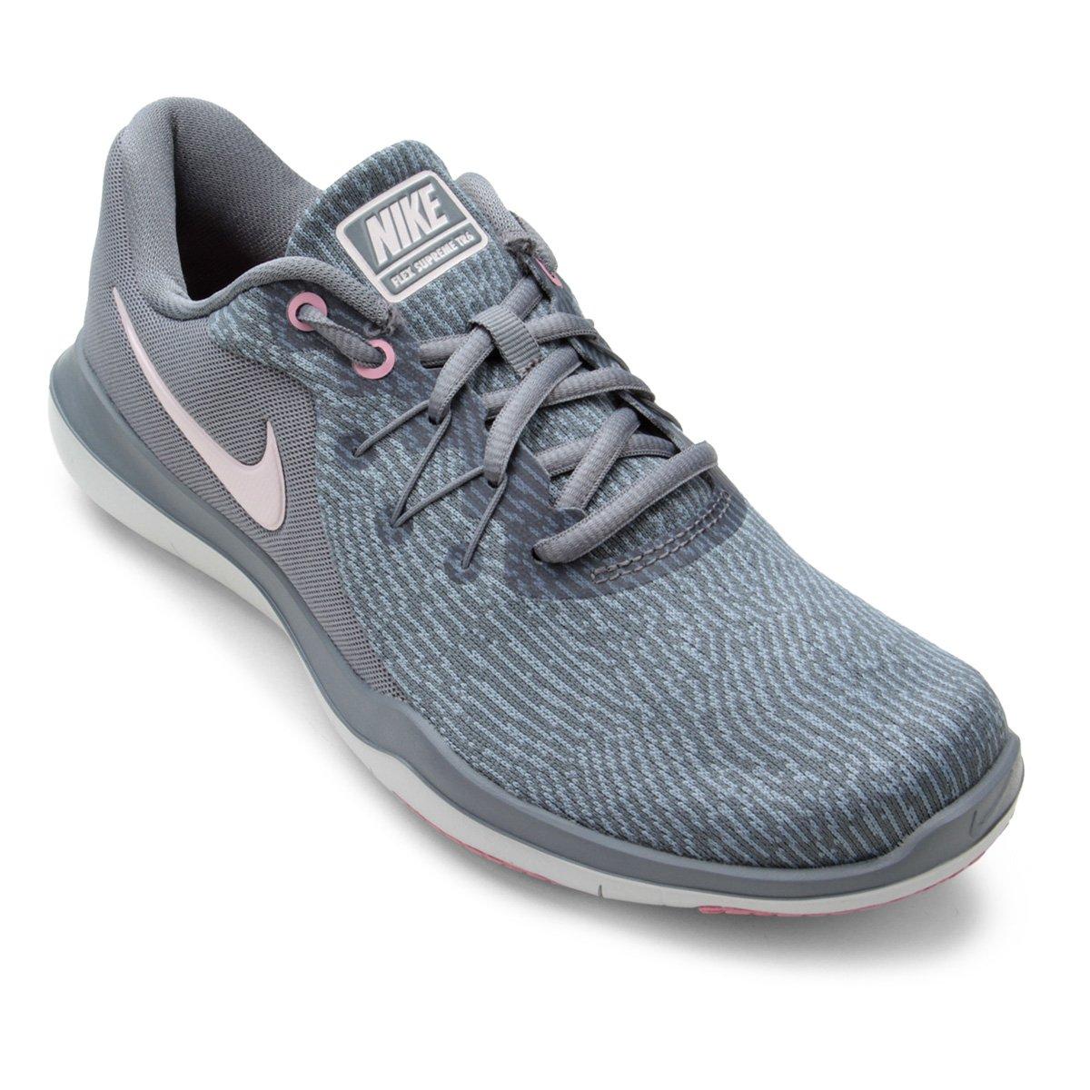 Tênis Nike Flex Supreme TR 6 Feminino - Cinza e Rosa - Compre Agora ... 8e61e757664dc