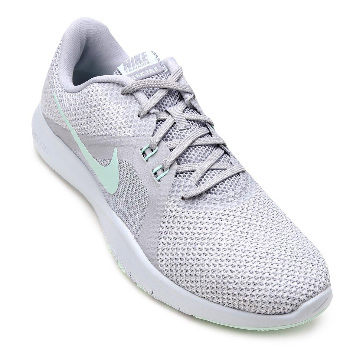 f42aa0f175a Tênis Nike Flex Trainer 8 Feminino - Cinza - Compre Agora