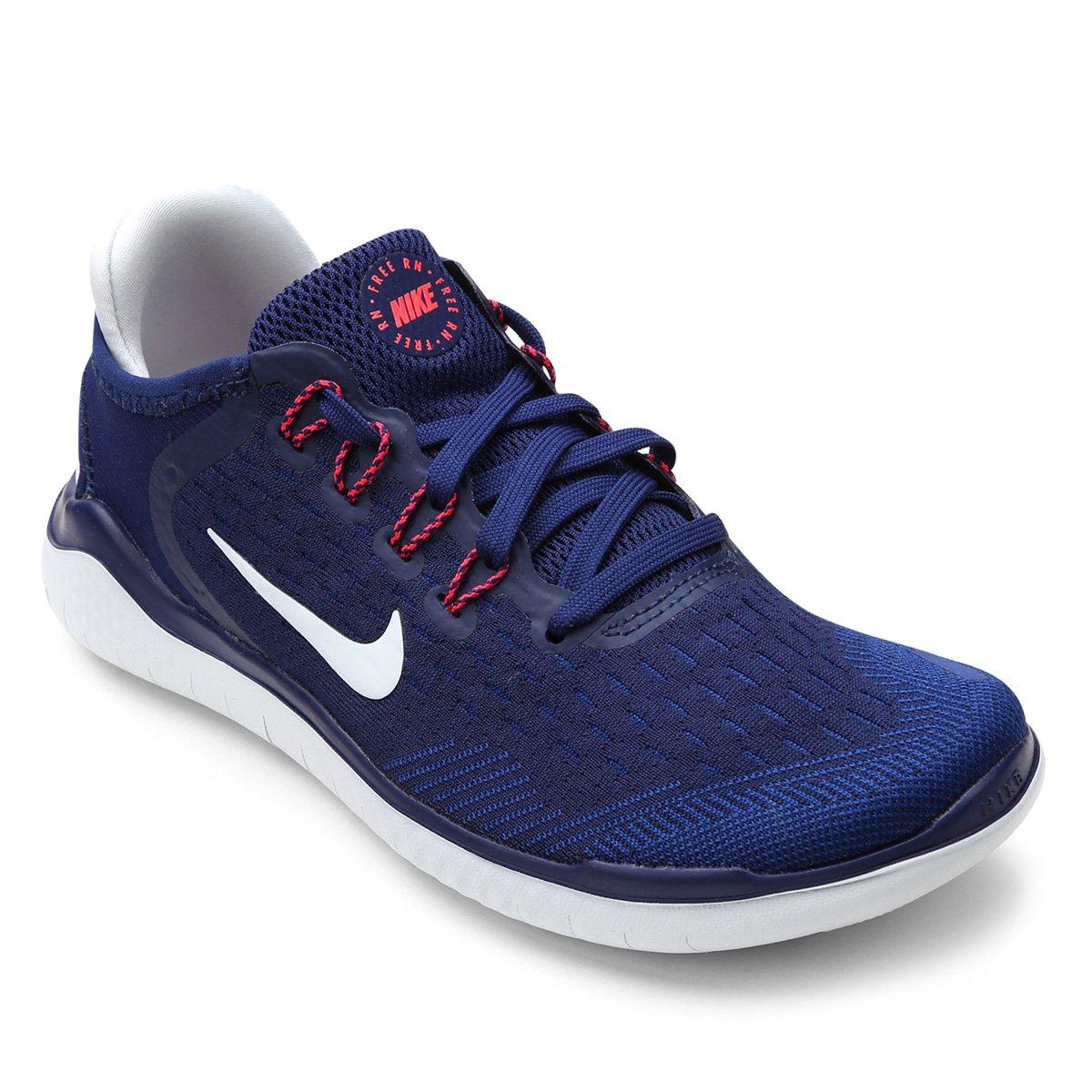 43d75f88eb8 Tênis Nike Free Rn 2018 Feminino - Azul - Compre Agora