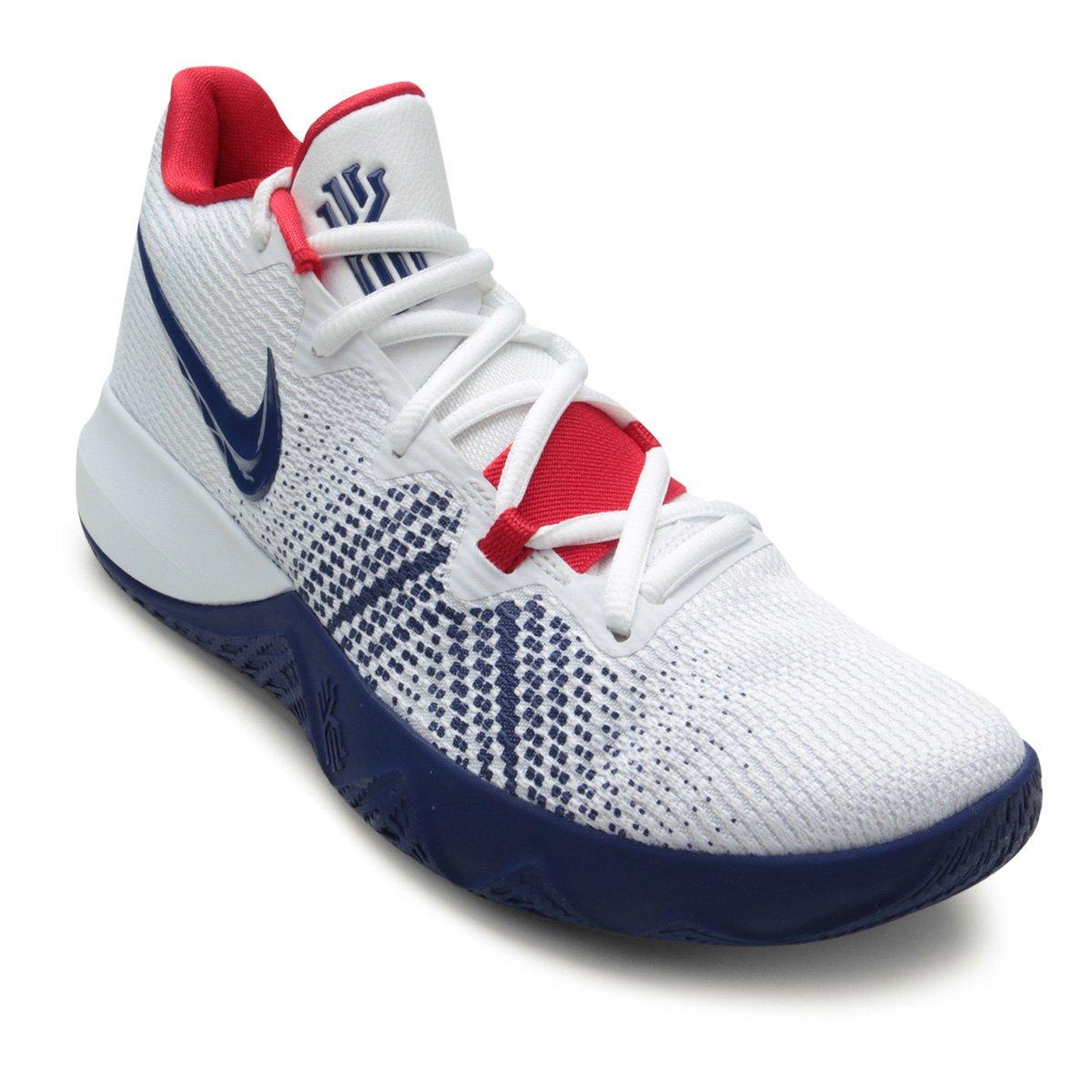 Tênis Nike Kyrie Flytrap Masculino - Branco e Azul - Compre Agora ... 3ff542146f5ac