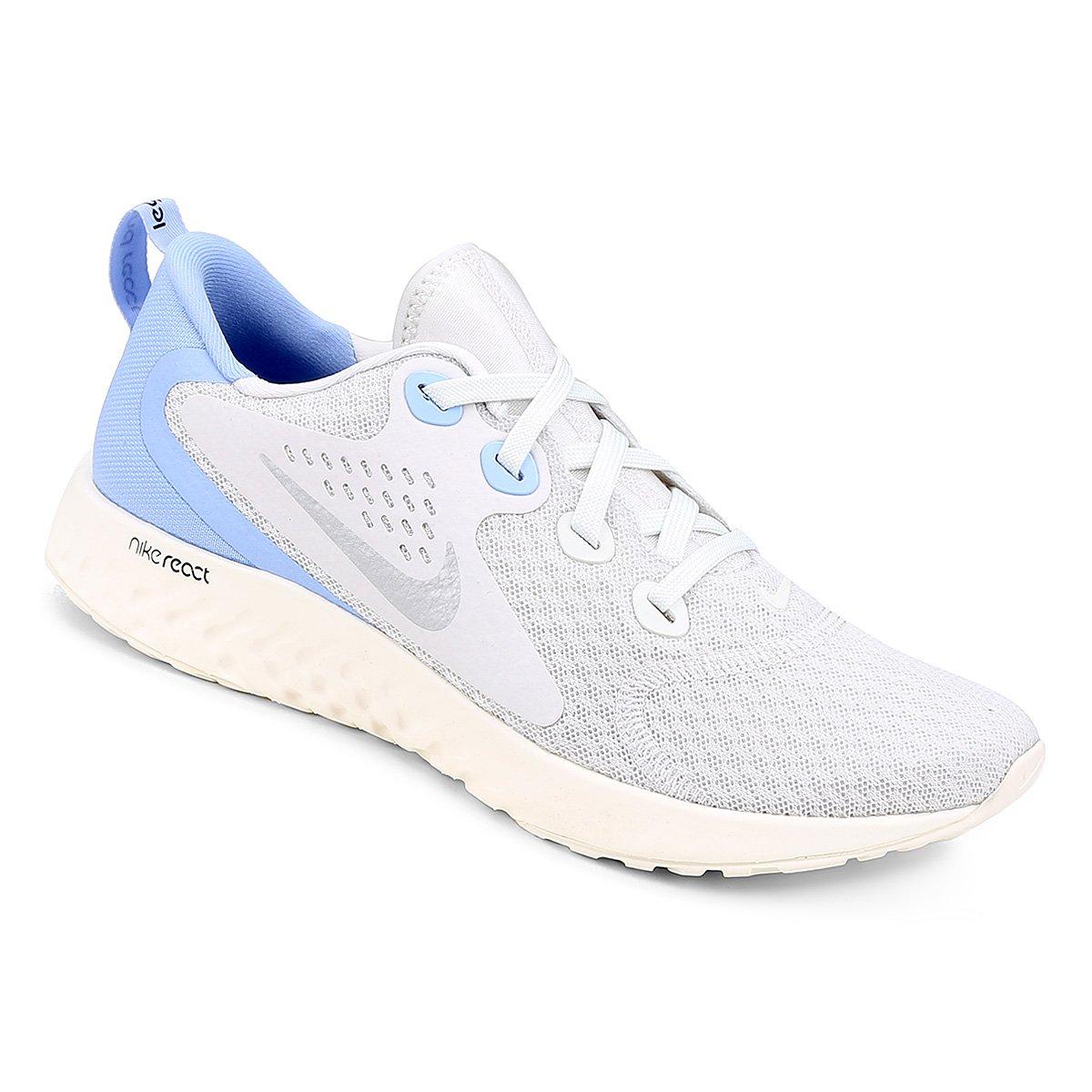 ae0bf6ca16 Tênis Nike Legend React Feminino - Cinza e Azul Claro - Compre Agora ...