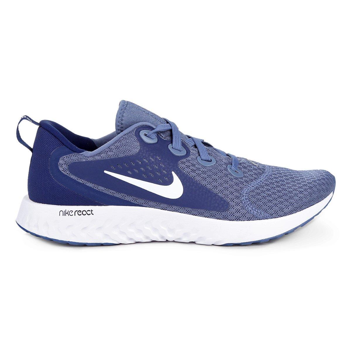 Tênis Nike Legend React Masculino - Azul e Branco - Compre Agora ... e8a163efb3747