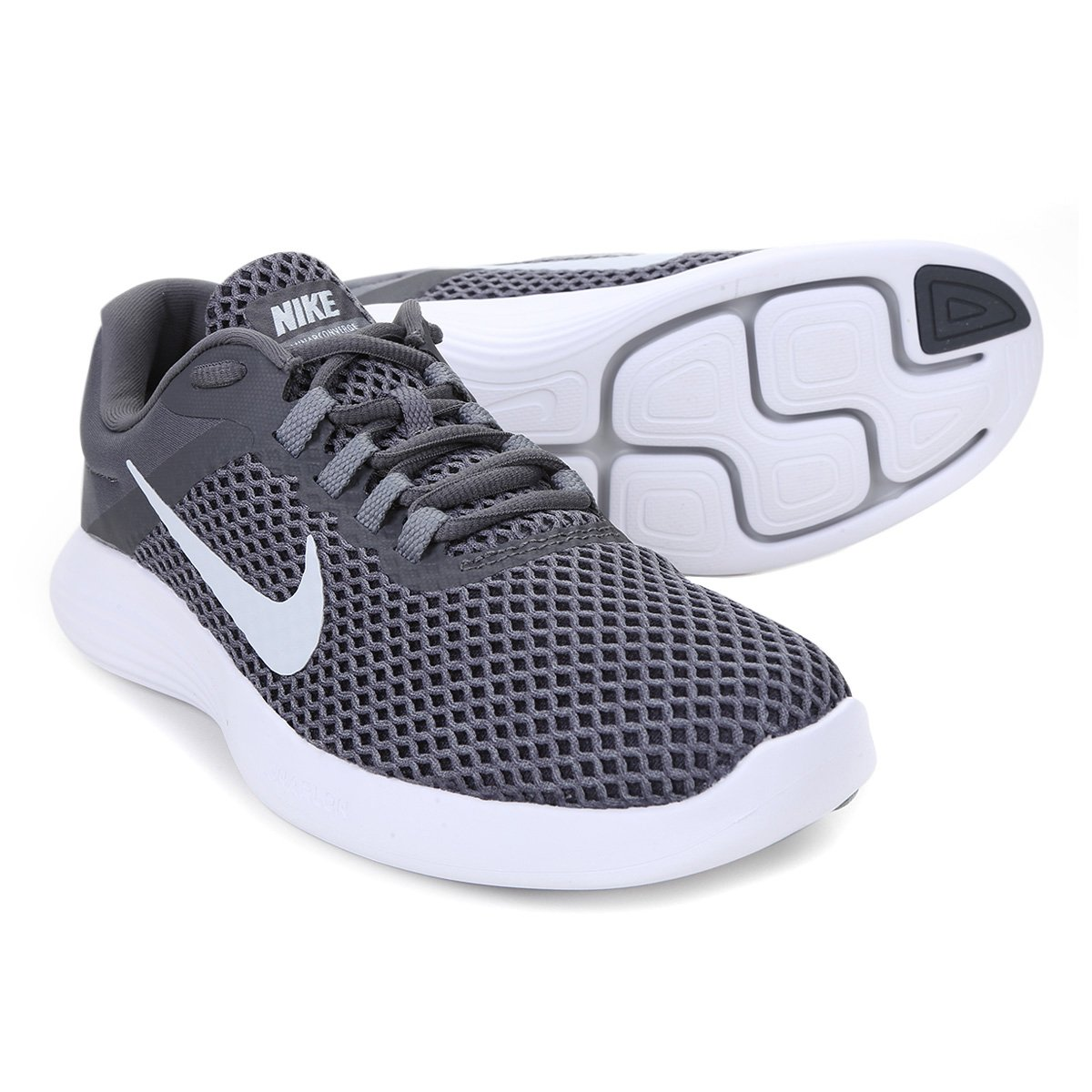 d25acf42d Tênis Nike Lunarconverge 2 Masculino - Cinza e Prata | Shop Timão