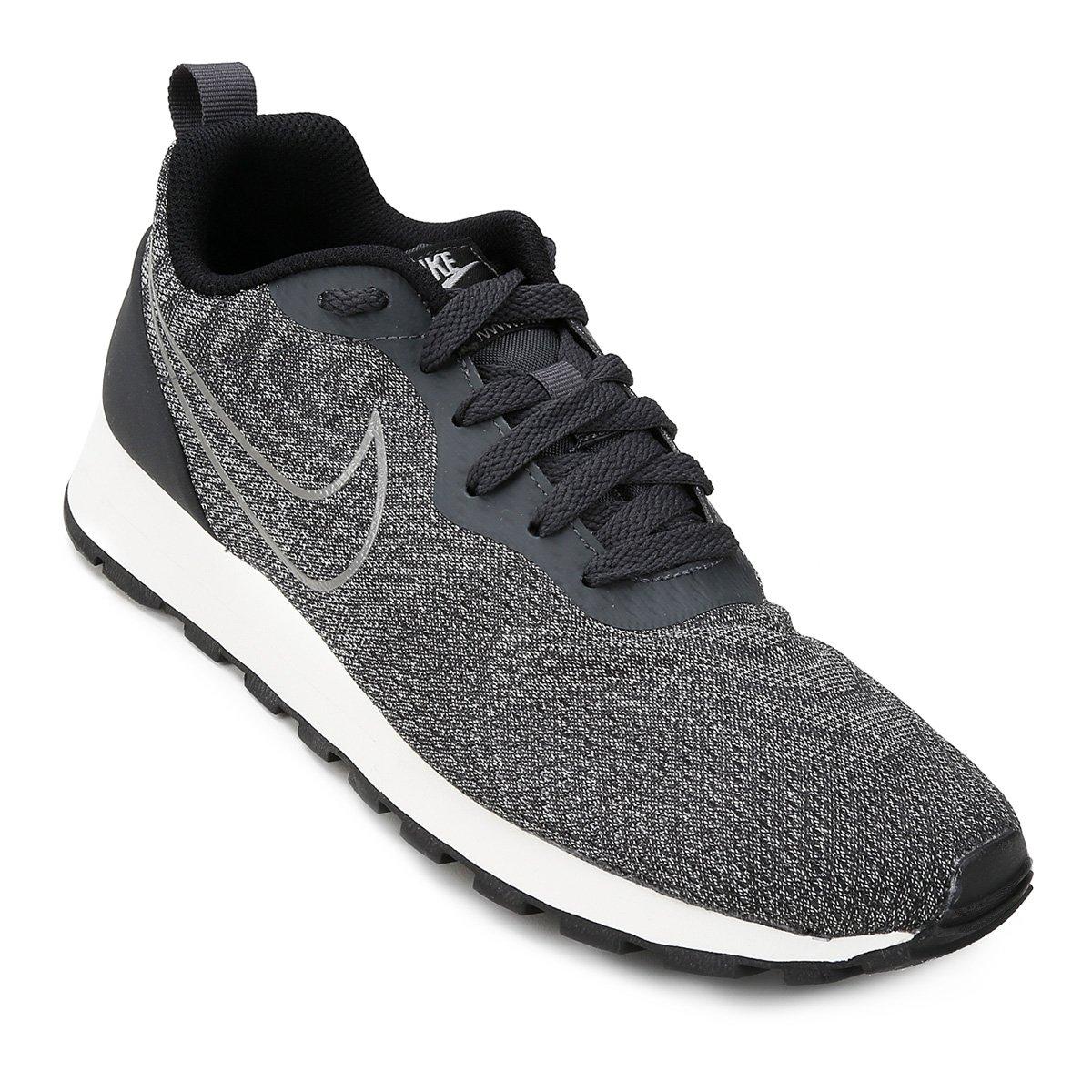 1768faa774798 Tênis Nike Md Runner 2 Eng Mesh Feminino - Chumbo e Preto - Compre Agora