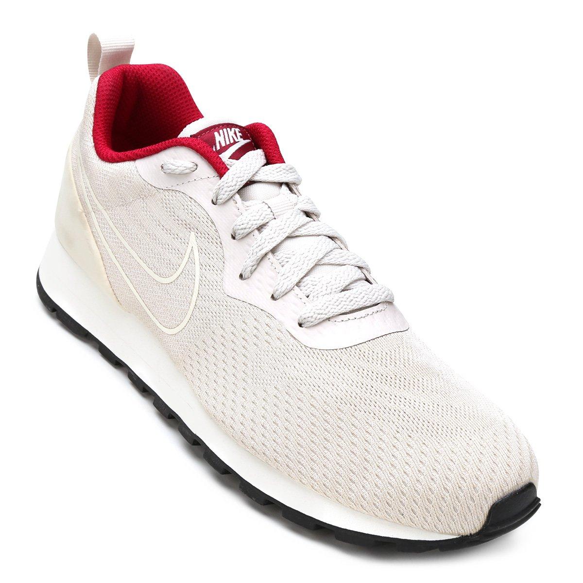 2ff63be007 Tênis Nike Md Runner 2 Eng Mesh Feminino - Gelo e Vermelho - Compre ...