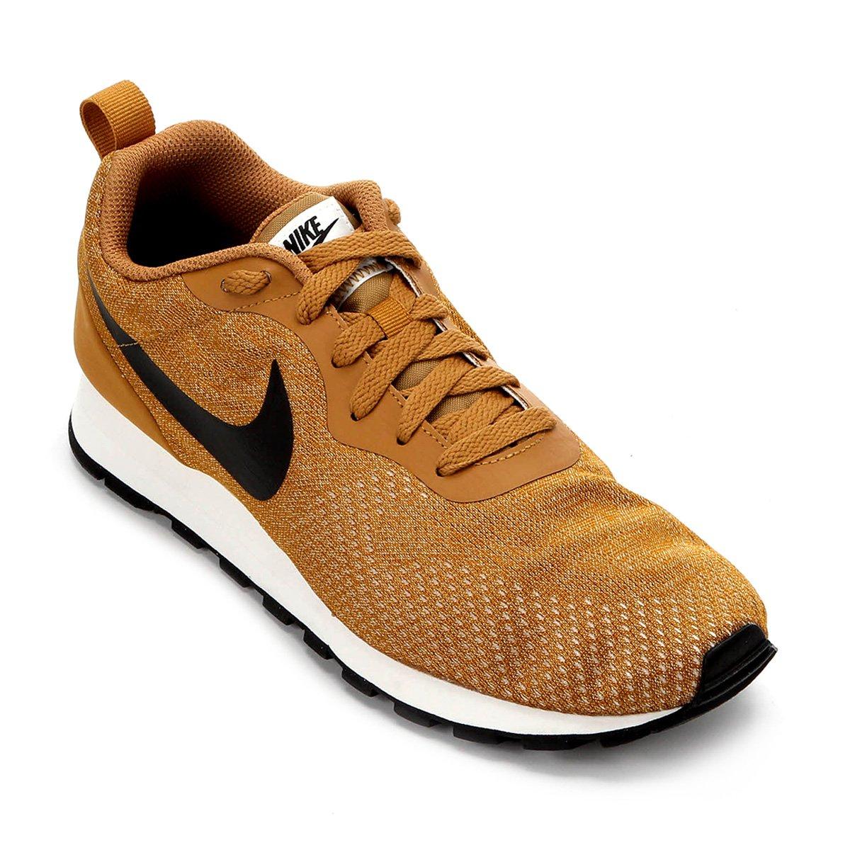 9ff40d170a Tênis Nike Md Runner 2 Eng Mesh Masculino - Caramelo e Preto ...
