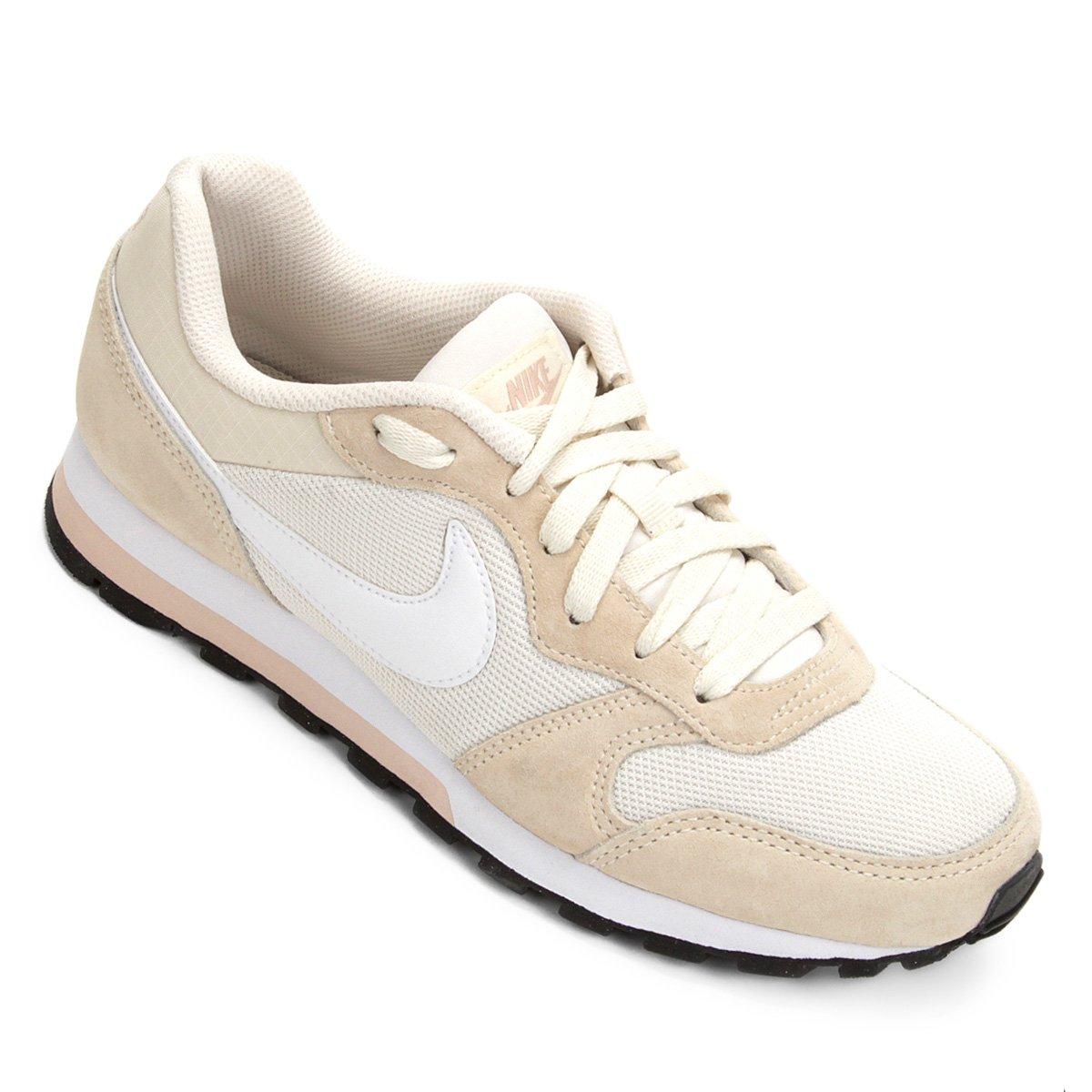 2b10f6a333b Tênis Nike Md Runner 2 Feminino - Bege e Branco - Compre Agora ...