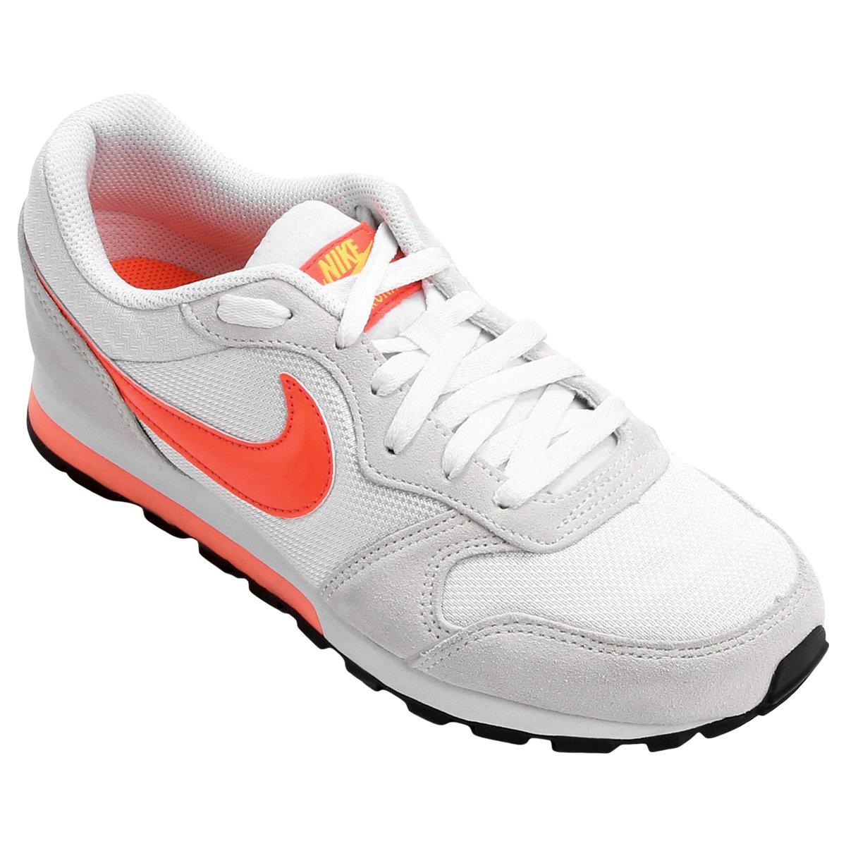 Tênis Nike Md Runner 2 Feminino - Branco e Laranja - Compre Agora ... 0a053a490edf4