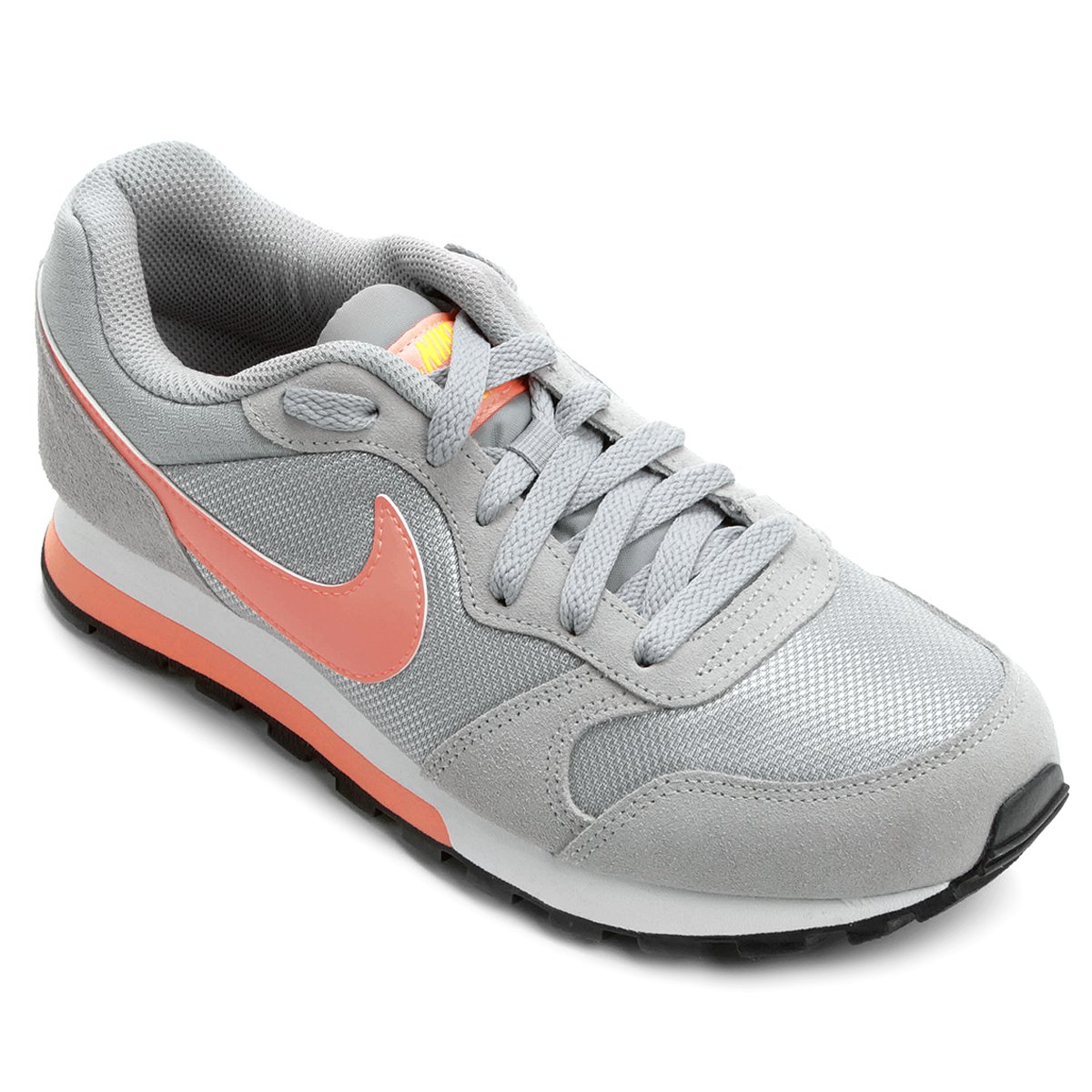 30dbbe9968a77 Tênis Nike Md Runner 2 Feminino - Cinza e Salmão - Compre Agora