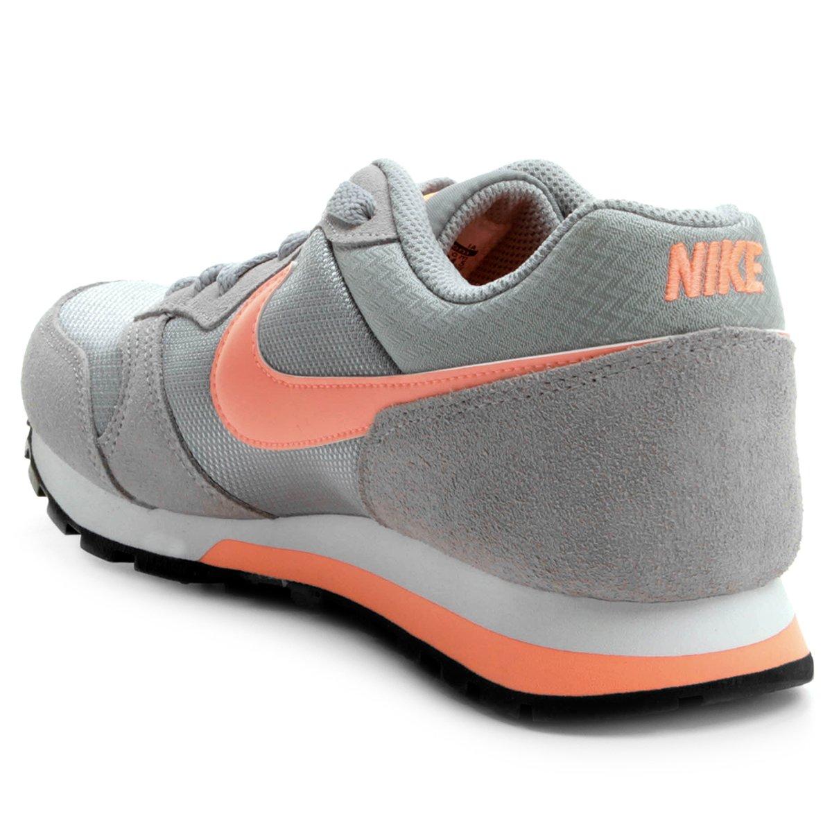 Tênis Nike Md Runner 2 Feminino - Cinza e Salmão - Compre Agora ... 23b0073e45072