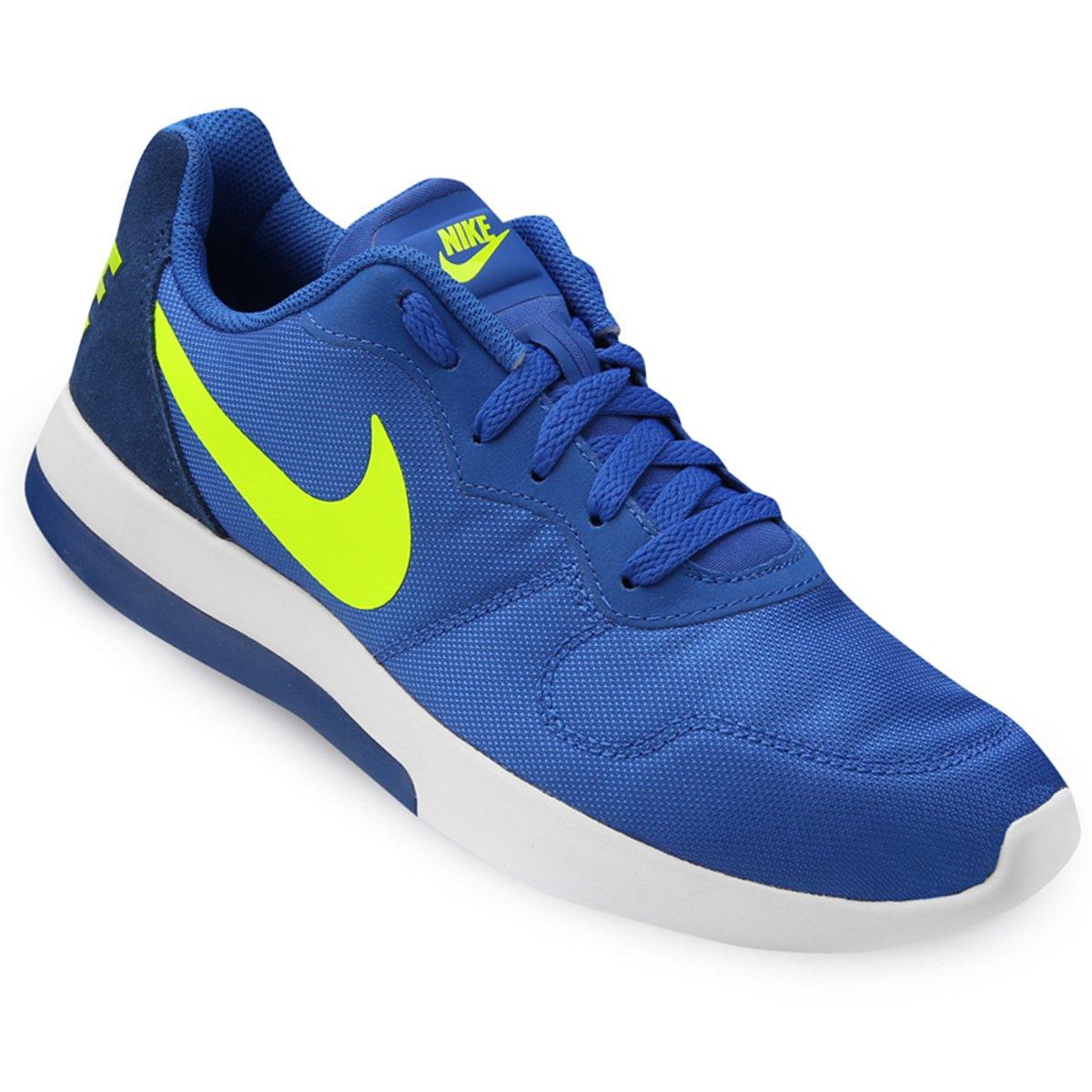 tenis nike azul e verde