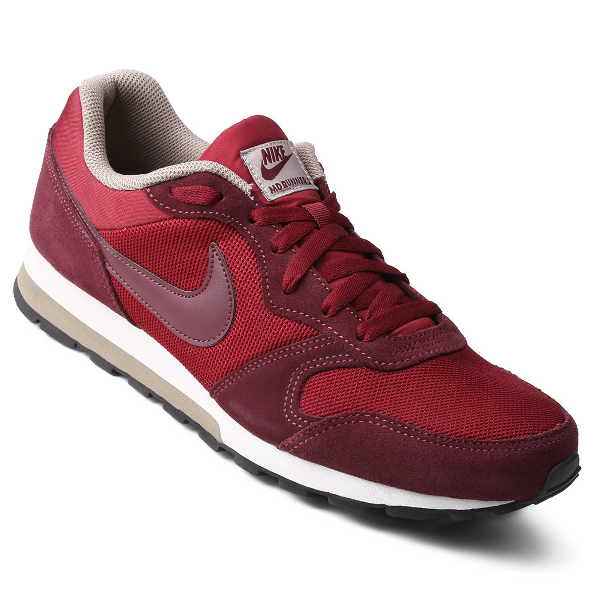 f65a3e873ae Tênis Nike Md Runner 2 Masculino - Vermelho e Vinho - Compre Agora ...