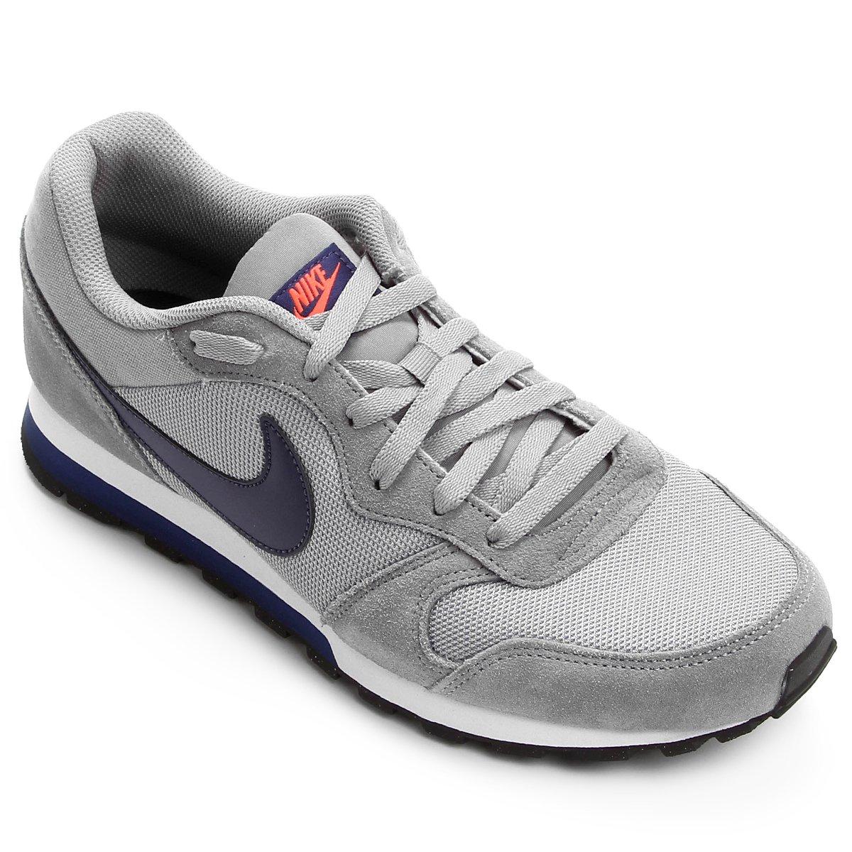 Tênis Nike Md Runner 2 Masculino - Cinza e Marinho - Compre Agora ... d91efa1c68362