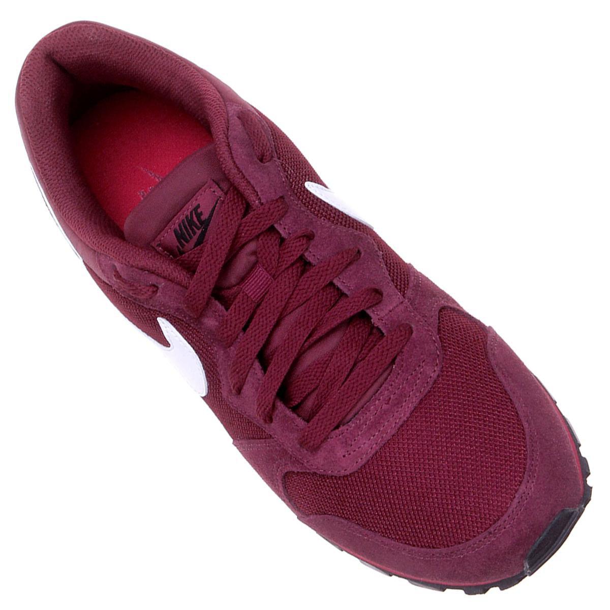 Tênis Nike Md Runner 2 Masculino - Vermelho Escuro e Branco - Compre ... 406fab5ad0b90
