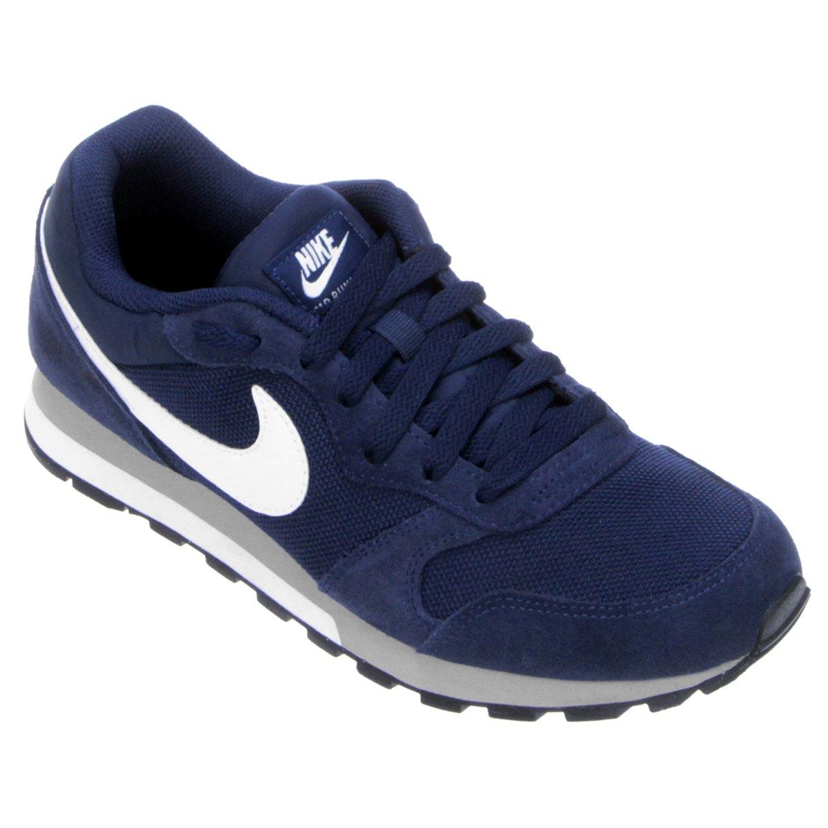 Tênis Nike Md Runner 2 Masculino - Marinho e Branco - Compre Agora ... 11d7f07190a37