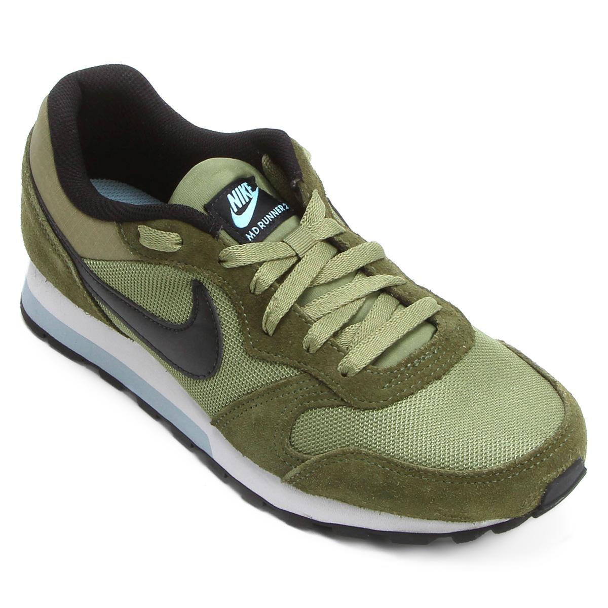 86ccf15c6bc48 Tênis Nike Md Runner 2 Masculino - Verde e Preto - Compre Agora ...