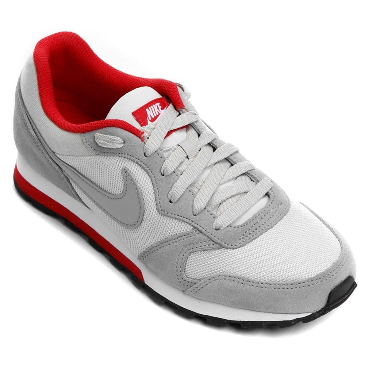 208d38cdba47e Tênis Nike Md Runner 2 Masculino - Cinza e Vermelho - Compre Agora ...