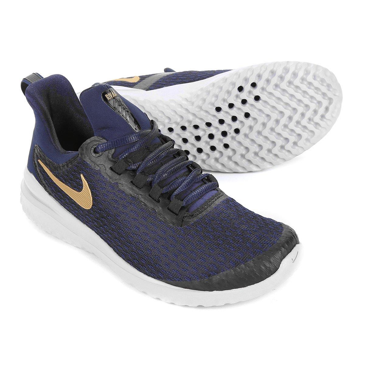 Tênis Nike Renew Rival Feminino - Azul e Dourado - Compre Agora ... f61d55021287b