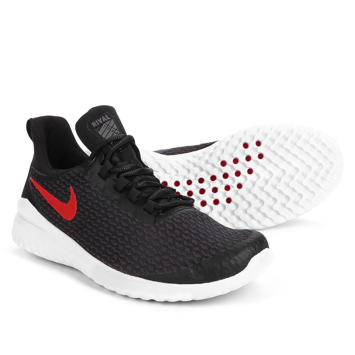 fbd3872d18 Tênis Nike Renew Rival Masculino - Preto e Vermelho - Compre Agora ...