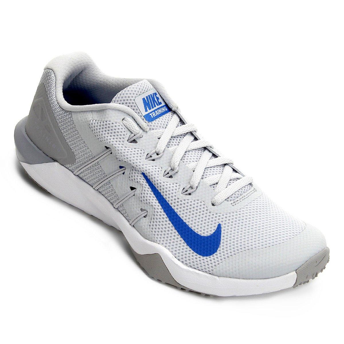 52ef64249e9 Tênis Nike Retaliation Tr 2 Masculino - Prata e Azul - Compre Agora ...