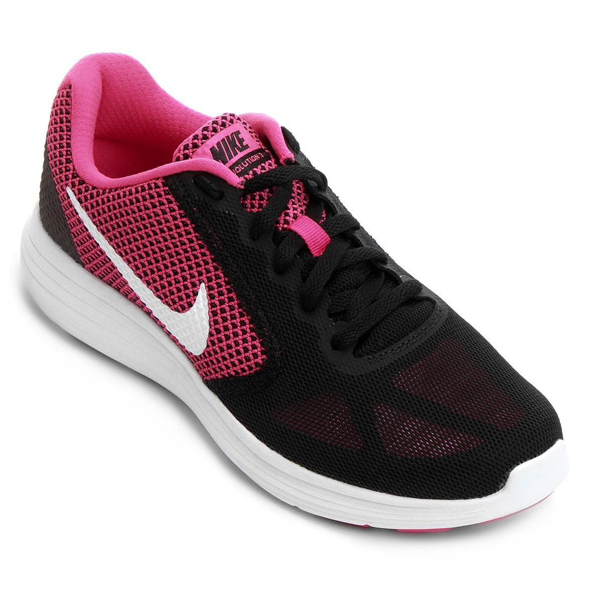 64fa6731af Tênis Nike Revolution 3 Feminino - Preto e Pink