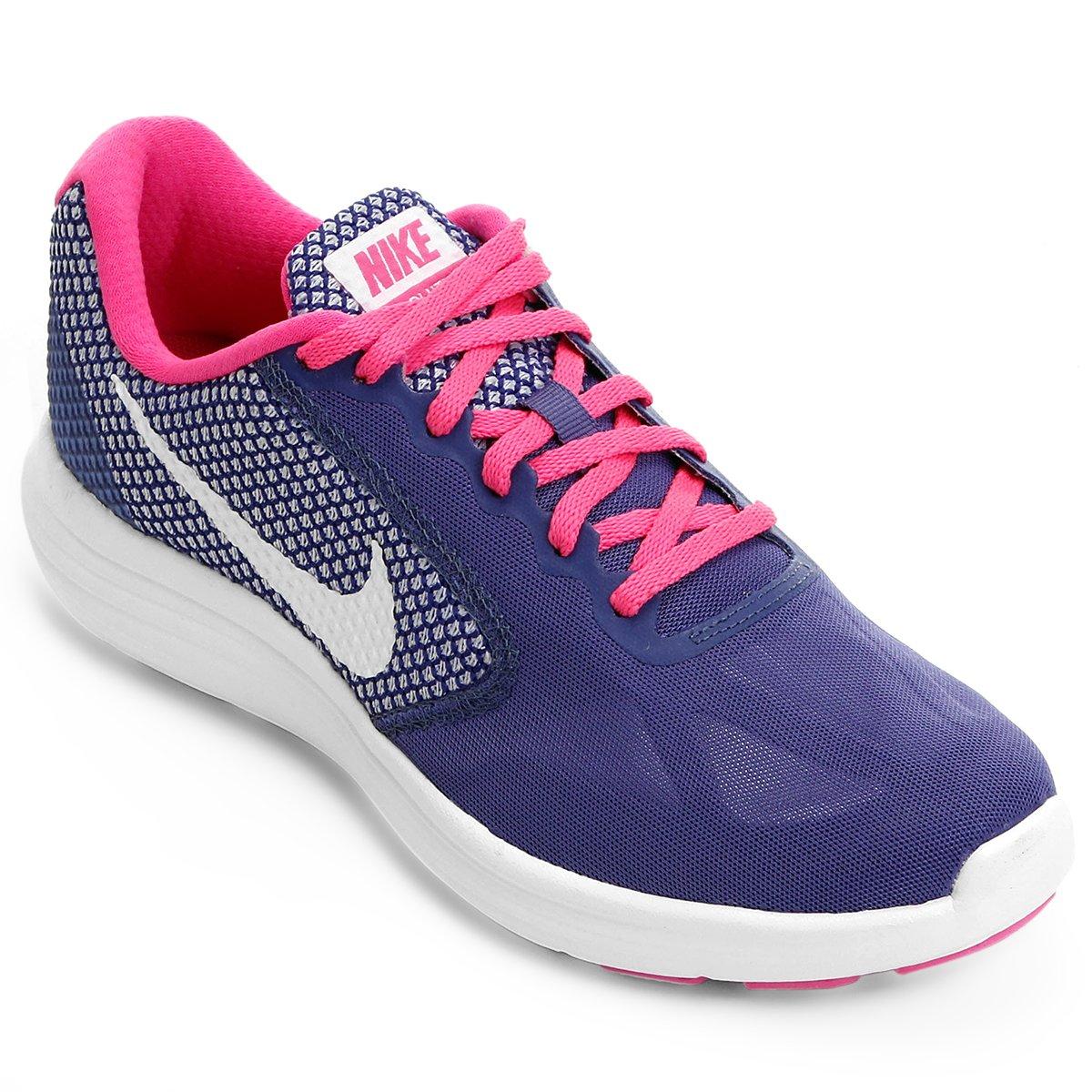 6cbee01050 Tênis Nike Revolution 3 Feminino - Roxo e Rosa - Compre Agora