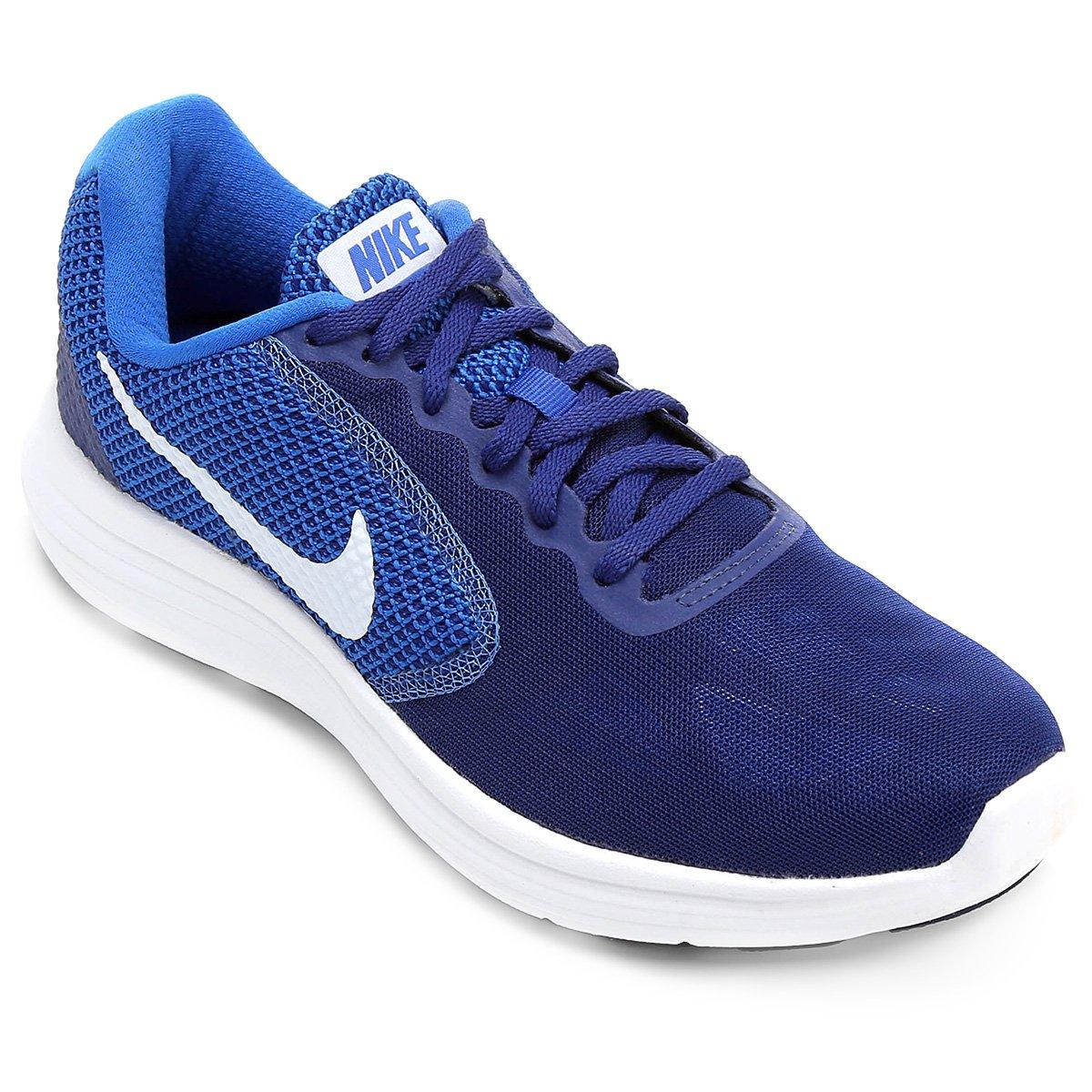 f89da01bca0 Tênis Nike Revolution 3 Masculino - Branco e Azul - Compre Agora ...