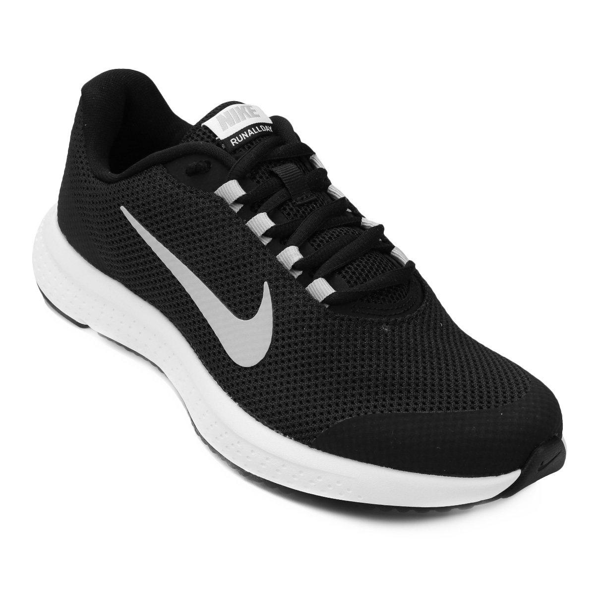 e42f514a60793 Tênis Nike Runallday Feminino - Preto e Branco - Compre Agora