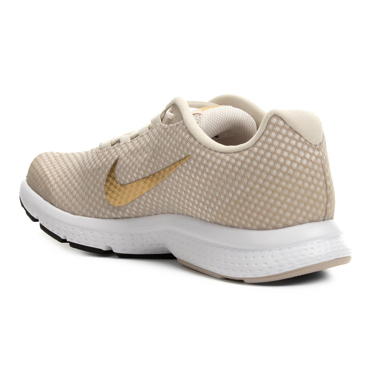Tênis Nike Runallday Feminino Bege E Dourado Shop Timão