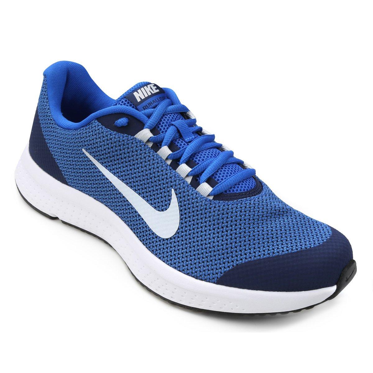 Tênis Nike Runallday Masculino - Preto e Azul - Compre Agora  7b602f12df5