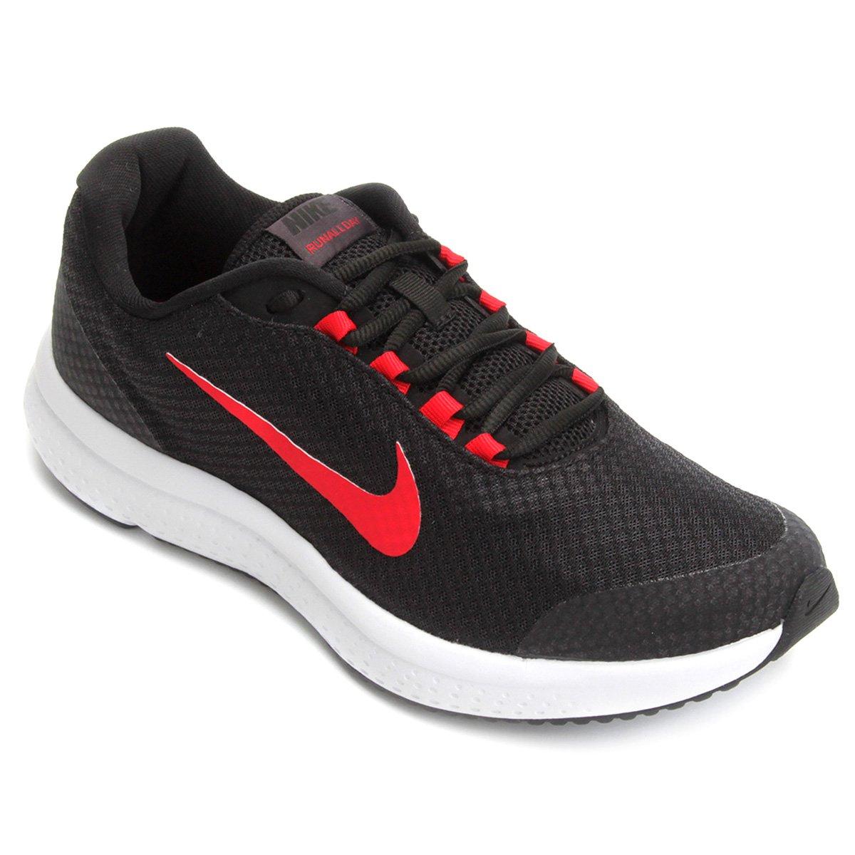 f0e2a8b77 Tênis Nike Runallday Masculino - Preto e Vermelho - Compre Agora ...