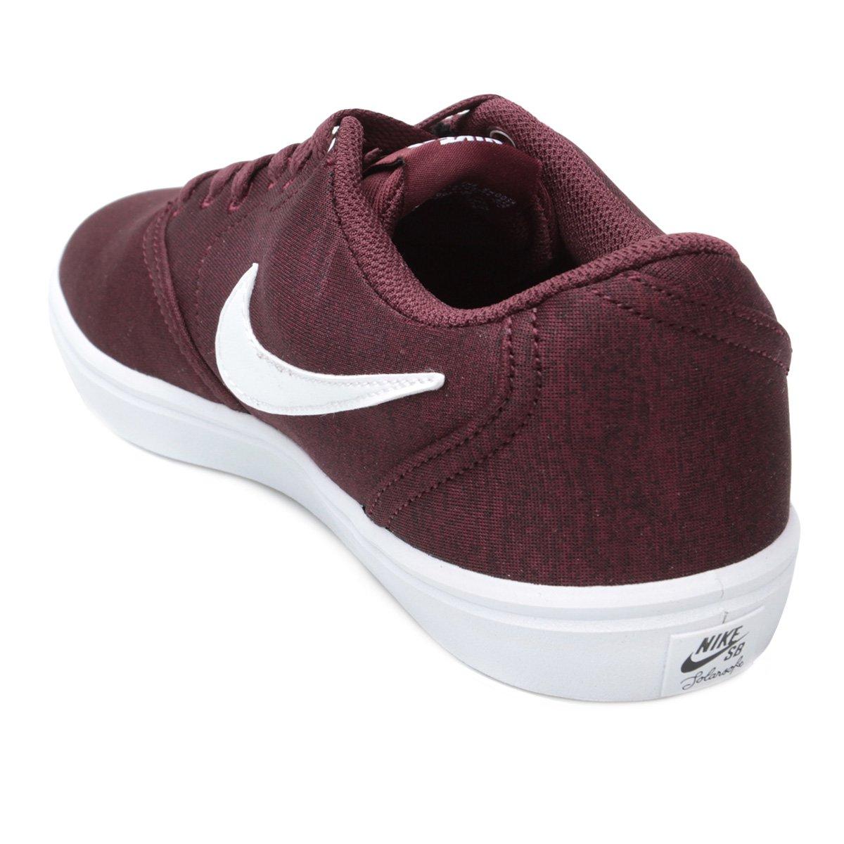 Tênis Nike Sb Check Solar Cnvs Prm Masculino - Vinho - Compre Agora ... b8a1f980c22e1