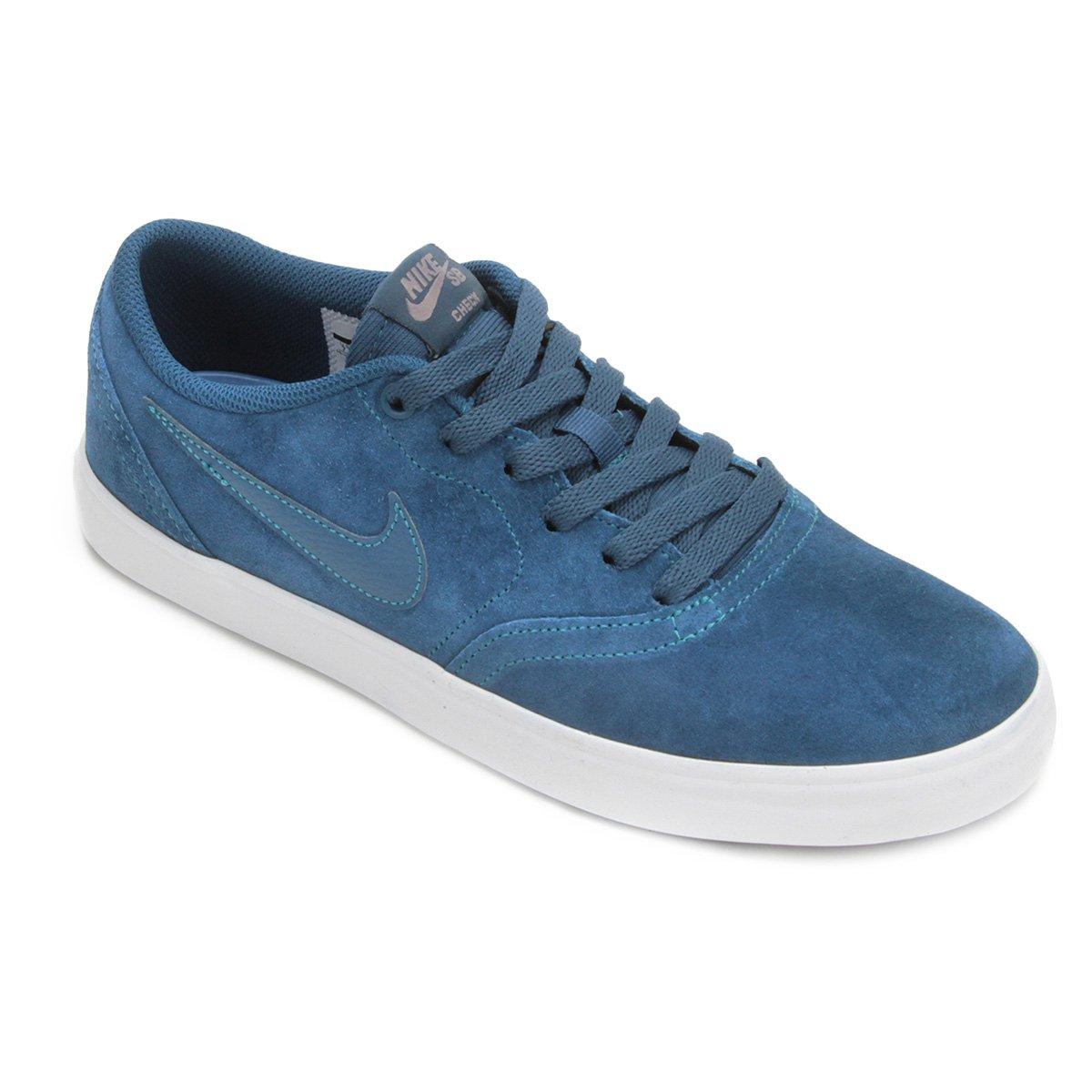 buy online 6b3d4 f151d Tênis Nike Sb Check Solar Masculino - Azul - Compre Agora   Shop Timão